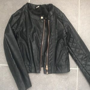 H&M Girls Faux Leather Jacket